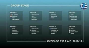 Υπόδειγμα οργάνωσης το Κύπελλο του ΑΟΔΗΠ